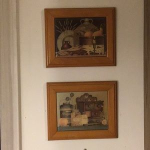 Set of two kitchen wall hangings